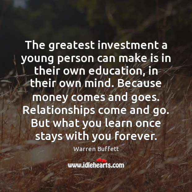 Image, The greatest investment a young person can make is in their own