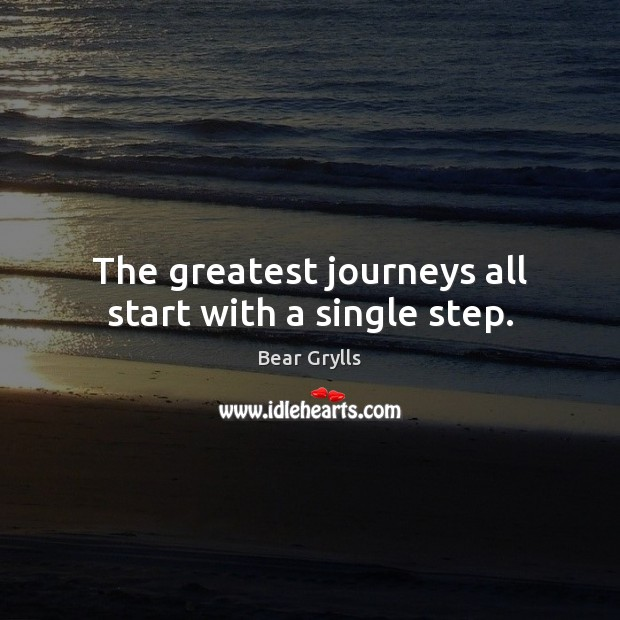 The greatest journeys all start with a single step. Image