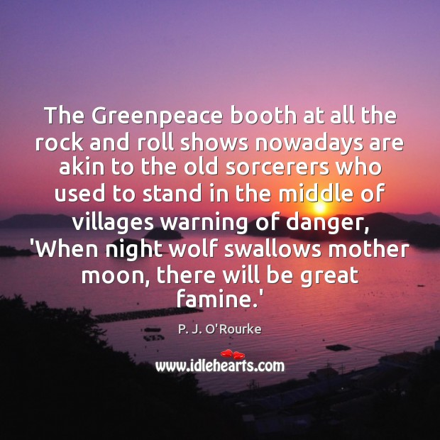 Image, The Greenpeace booth at all the rock and roll shows nowadays are
