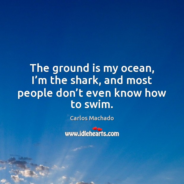 Image, The ground is my ocean, I'm the shark, and most people don't even know how to swim.