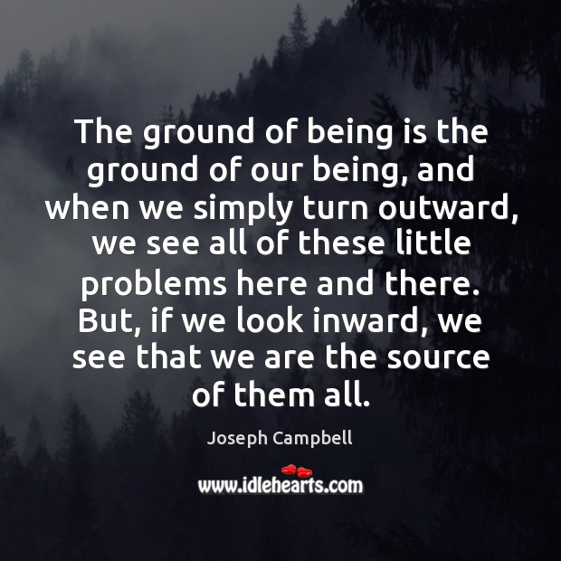 The ground of being is the ground of our being, and when Image