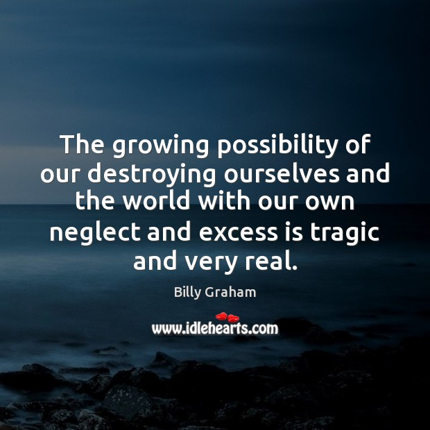 The growing possibility of our destroying ourselves and the world with our Image