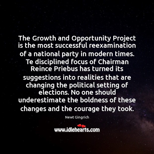 The Growth and Opportunity Project is the most successful reexamination of a Underestimate Quotes Image