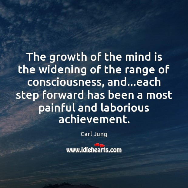 The growth of the mind is the widening of the range of Image