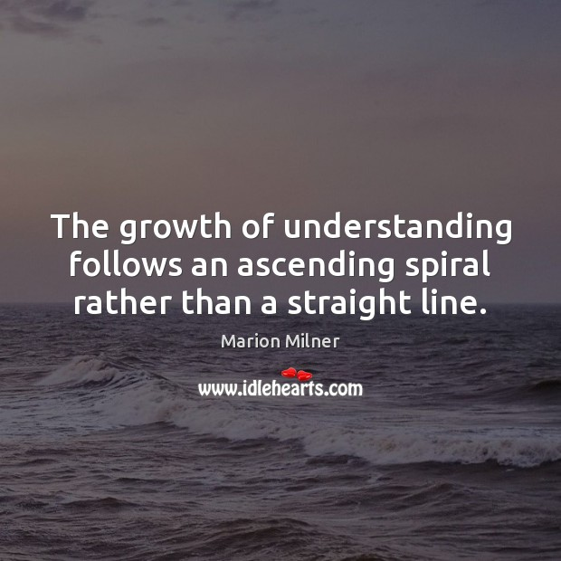 Image, The growth of understanding follows an ascending spiral rather than a straight line.
