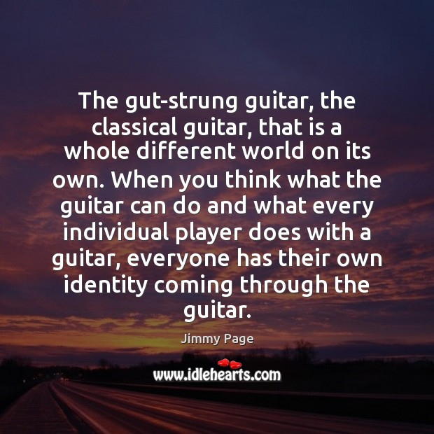 The gut-strung guitar, the classical guitar, that is a whole different world Image