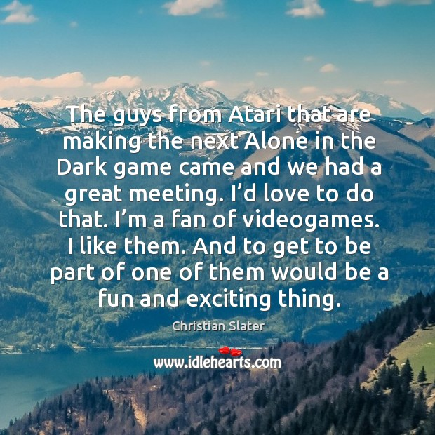Image, The guys from atari that are making the next alone in the dark game came and we had a great meeting.