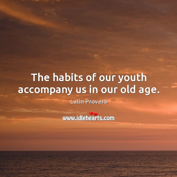 Image, The habits of our youth accompany us in our old age.