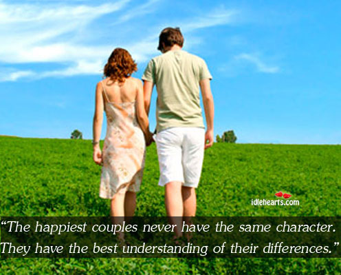 The happiest couples have the best understanding of their differences. Image