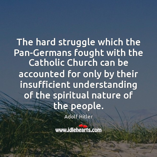 The hard struggle which the Pan-Germans fought with the Catholic Church can Image
