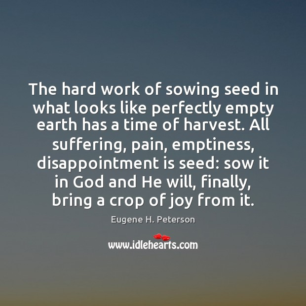 Image, The hard work of sowing seed in what looks like perfectly empty