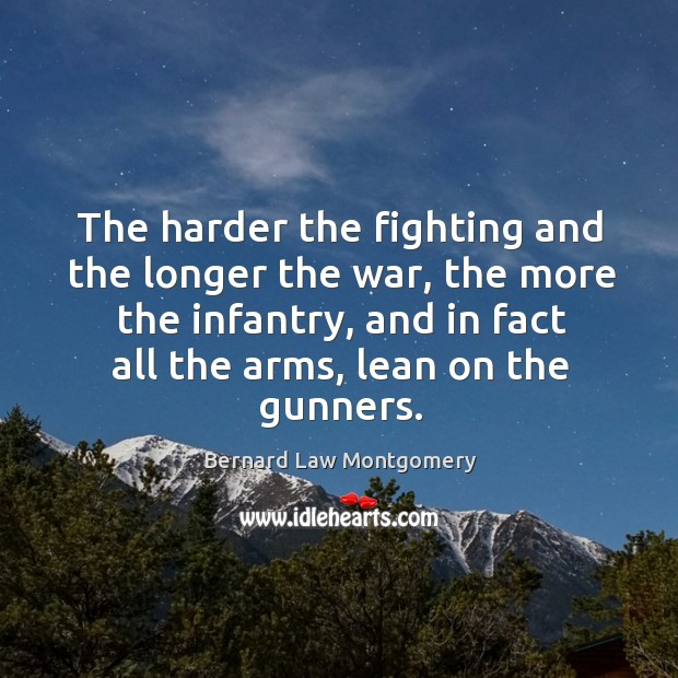 The harder the fighting and the longer the war, the more the Image