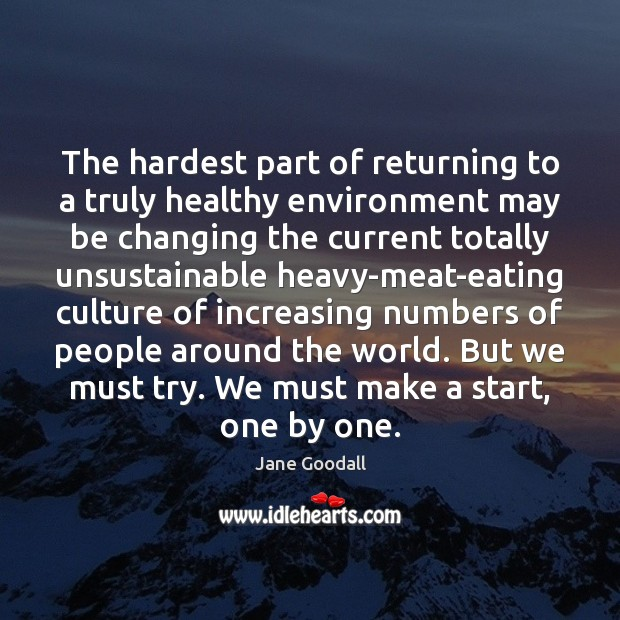 Image, The hardest part of returning to a truly healthy environment may be