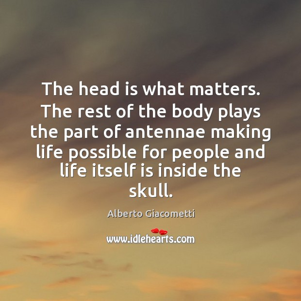 The head is what matters. The rest of the body plays the Image
