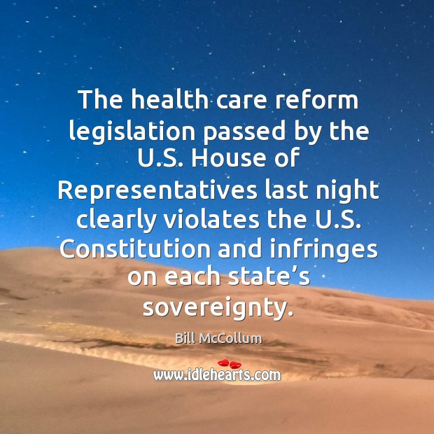 Image, The health care reform legislation passed by the u.s. House of representatives