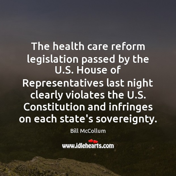 Image, The health care reform legislation passed by the U.S. House of