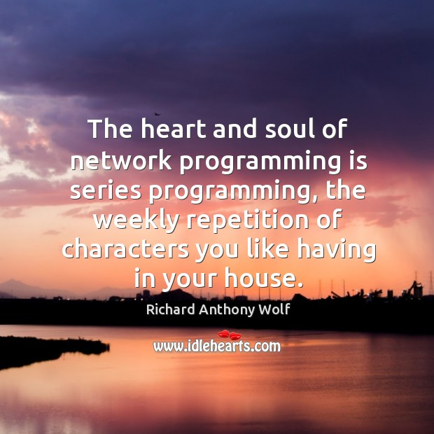 The heart and soul of network programming is series programming Image