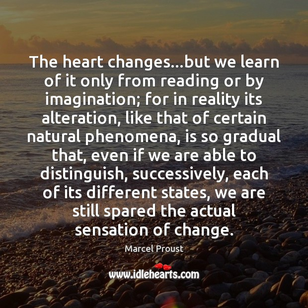 Image, The heart changes…but we learn of it only from reading or