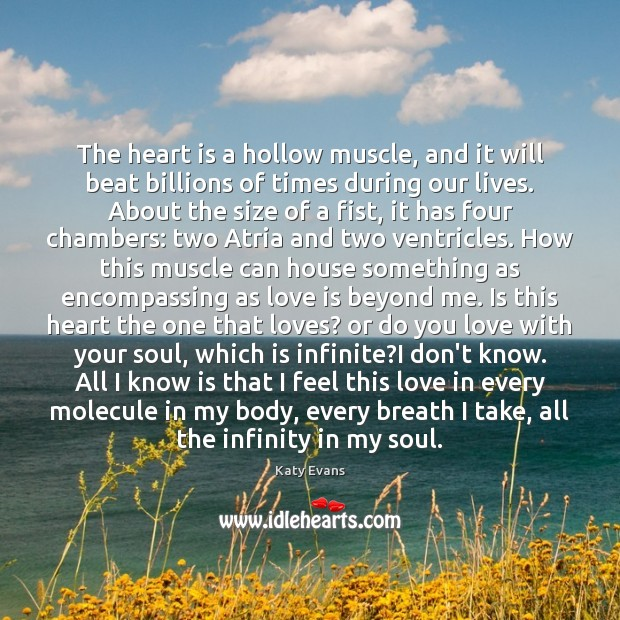 Katy Evans Picture Quote image saying: The heart is a hollow muscle, and it will beat billions of