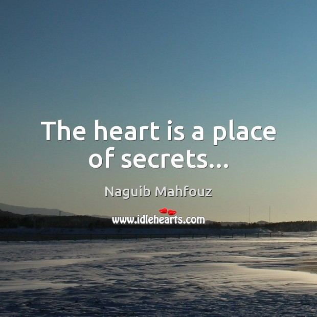 Image, The heart is a place of secrets…