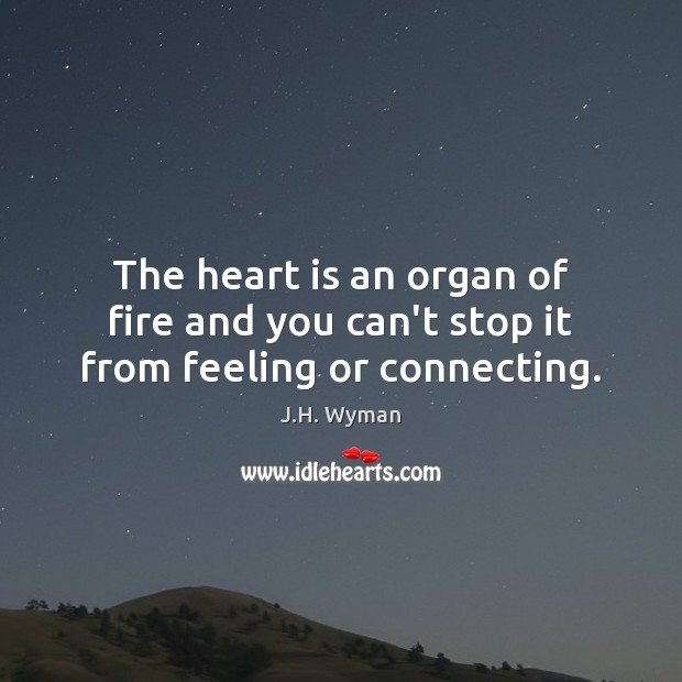 Image, The heart is an organ of fire and you can't stop it from feeling or connecting.
