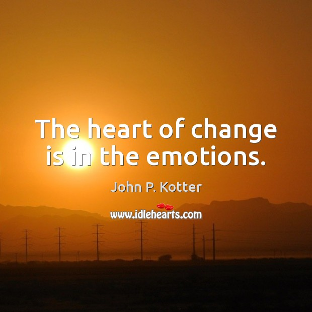 research paper about the heart of change by kotter Change experts john kotter & nancy dearman in dialogue with walter link explain that feelings are as important as thinking to bring about meaningful change full episode - peter senge: the heart of transformation meet mit professor and one of the world's most respected leadership experts.