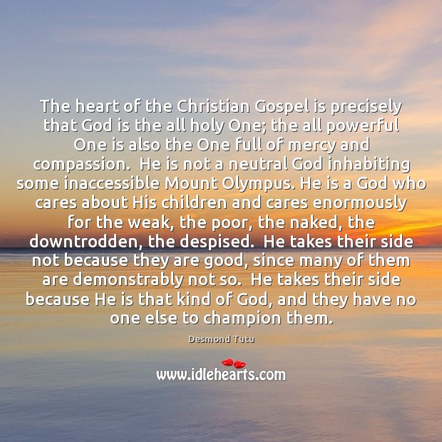 Image, The heart of the Christian Gospel is precisely that God is the