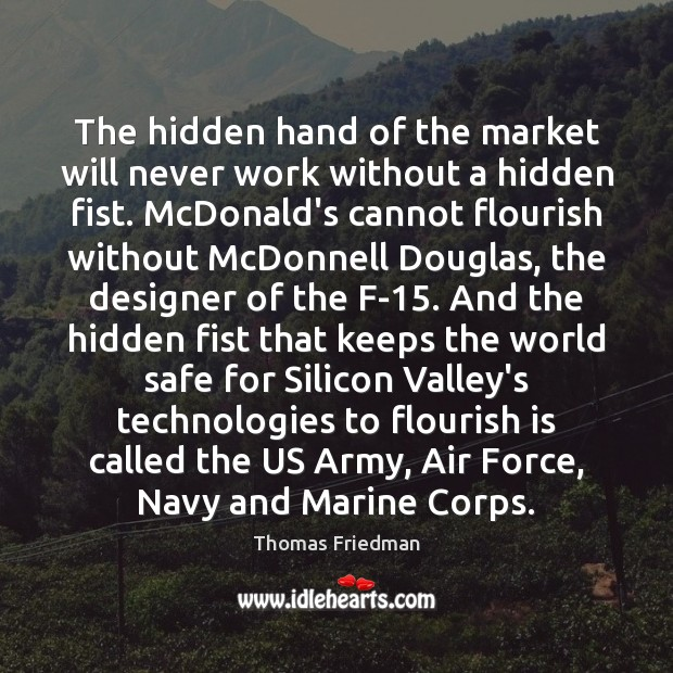 Image, The hidden hand of the market will never work without a hidden