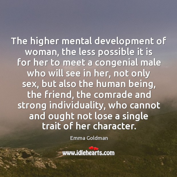 Image, The higher mental development of woman
