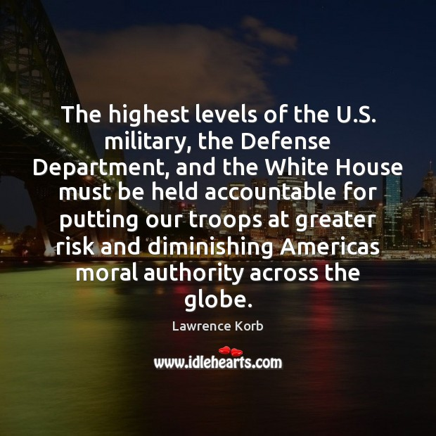 The highest levels of the U.S. military, the Defense Department, and Image