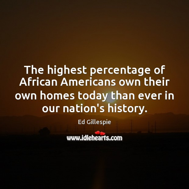 Image, The highest percentage of African Americans own their own homes today than