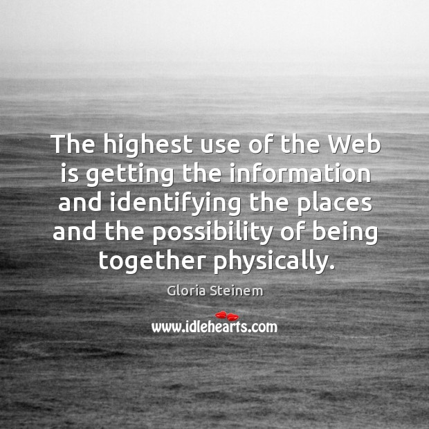 The highest use of the Web is getting the information and identifying Image