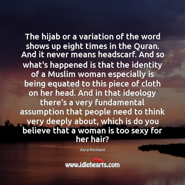 Image, The hijab or a variation of the word shows up eight times