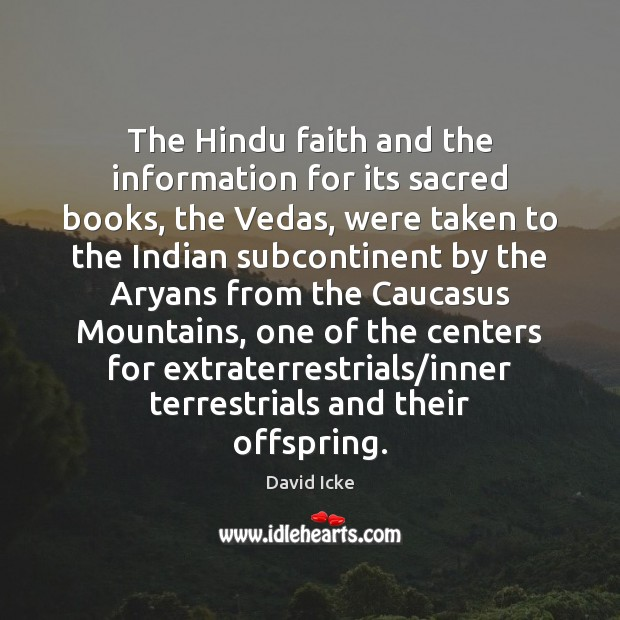 Image, The Hindu faith and the information for its sacred books, the Vedas,