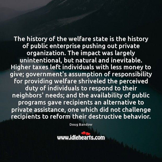 Image, The history of the welfare state is the history of public enterprise