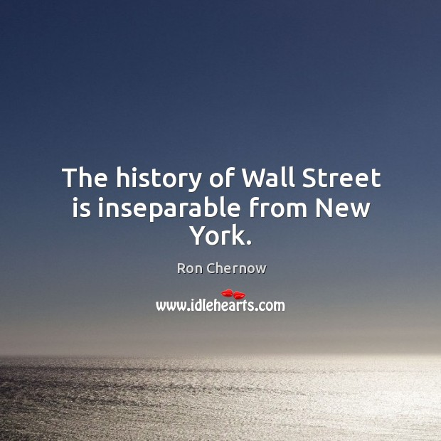 The history of wall street is inseparable from new york. Image