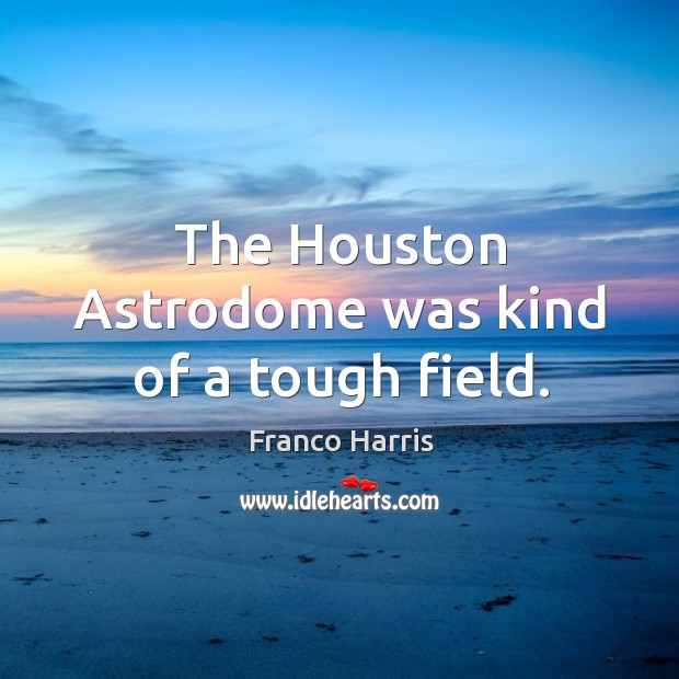 The houston astrodome was kind of a tough field. Image