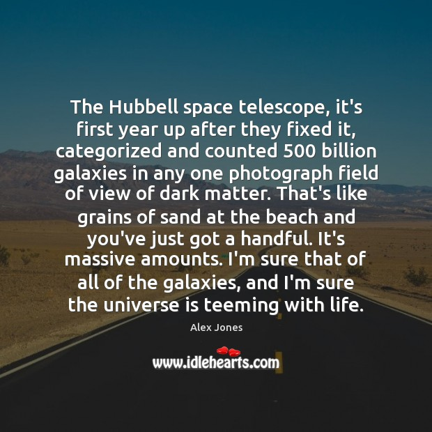 Image, The Hubbell space telescope, it's first year up after they fixed it,