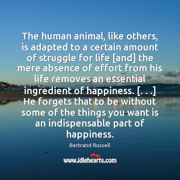 Image, The human animal, like others, is adapted to a certain amount of