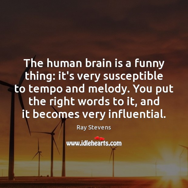 The human brain is a funny thing: it's very susceptible to tempo Image