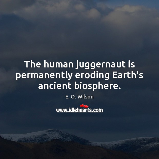 Image, The human juggernaut is permanently eroding Earth's ancient biosphere.