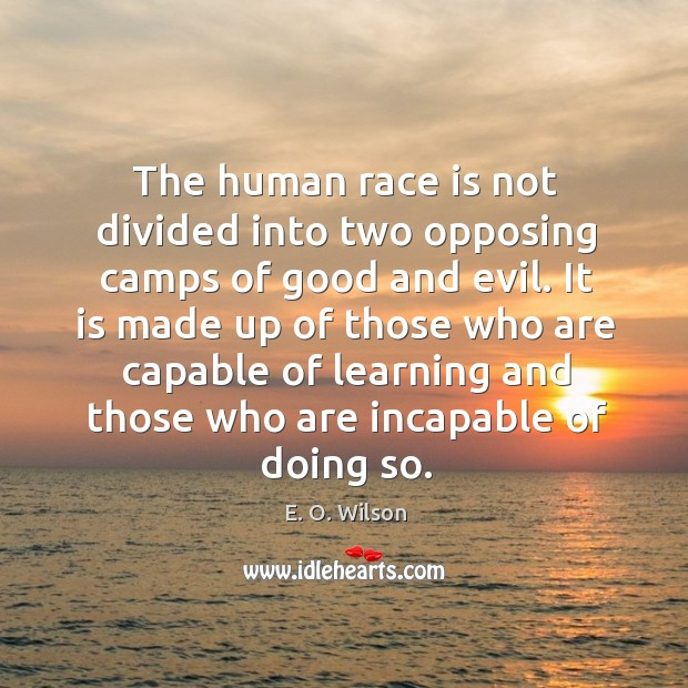 Image, The human race is not divided into two opposing camps of good