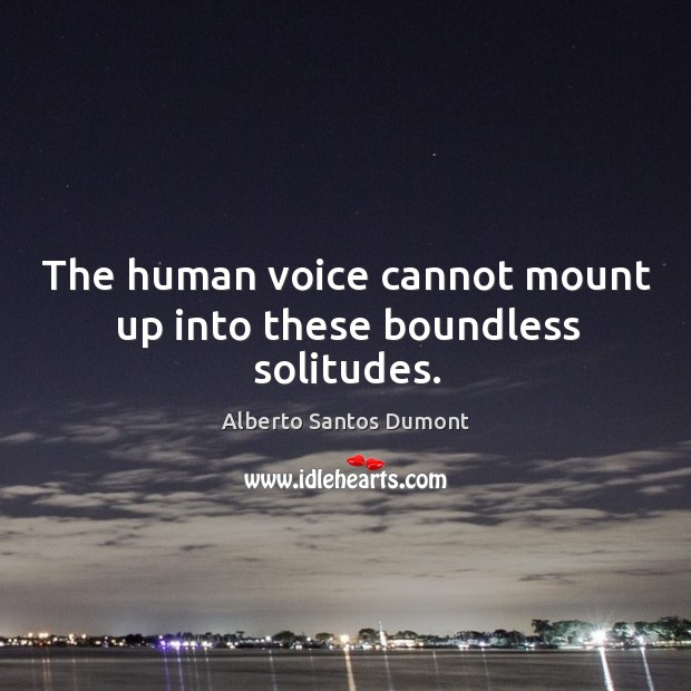 The human voice cannot mount up into these boundless solitudes. Image