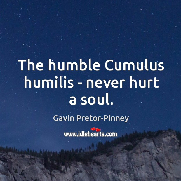 The humble Cumulus humilis – never hurt a soul. Image