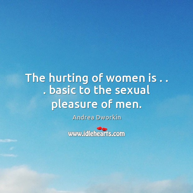 Image, The hurting of women is . . . basic to the sexual pleasure of men.