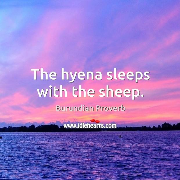 The hyena sleeps with the sheep. Burundian Proverbs Image