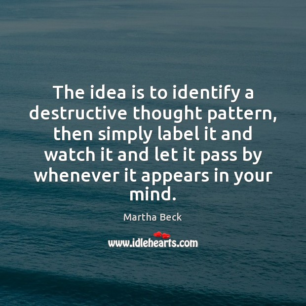 Image, The idea is to identify a destructive thought pattern, then simply label