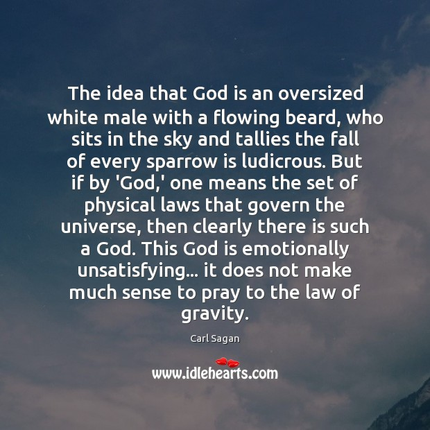Image, The idea that God is an oversized white male with a flowing