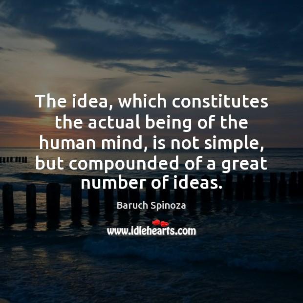 Image, The idea, which constitutes the actual being of the human mind, is