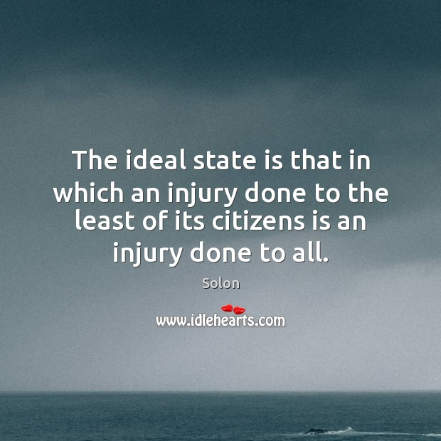 The ideal state is that in which an injury done to the Image